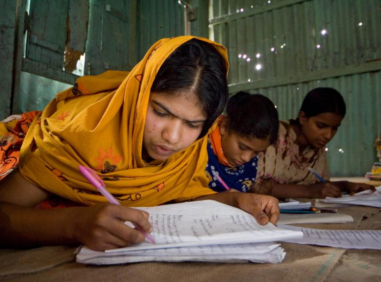 Sponsor a child to get an education at a SAJIDA school for only Taka Taka 1,500 (US$ 19) per month.